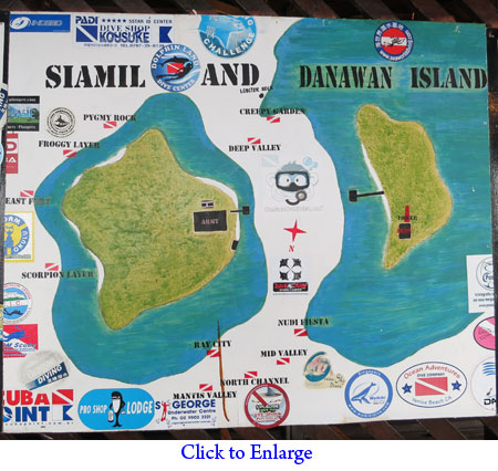 Dive sites of Siamil and Danawan Islands