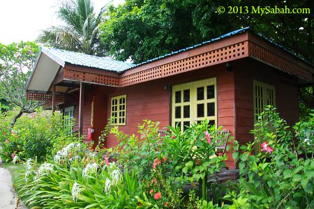 chalet of Borneo Divers Mabul Resort (BDMR)