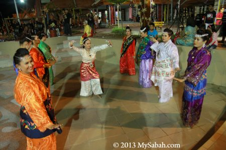 cultural show in outdoor stage