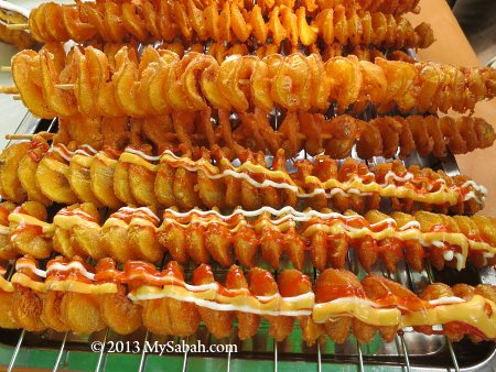 cheese potato skewers for sale