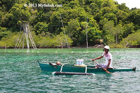 fisherman in Darvel Bay