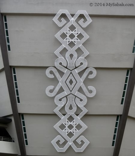 motif on Sabah Art Gallery building