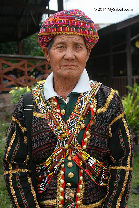 Rungus man in traditional costume