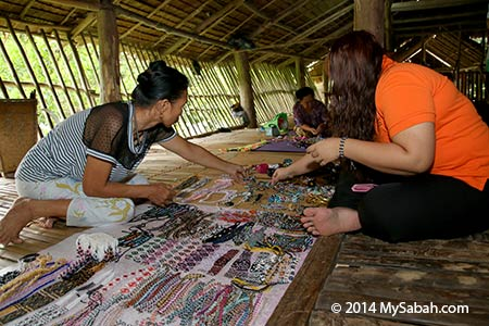 handicraft for sale in longhouse