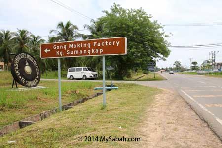 junction to Kg. Sumangkap Gong Factory
