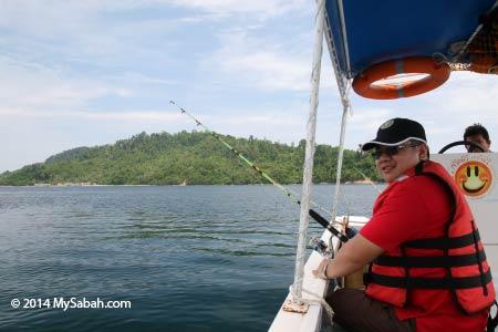 fishing around Sepanggar Island