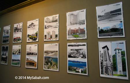 old vs new photographs of Sabah