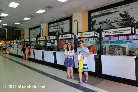 ticket counters in Jesselton Point