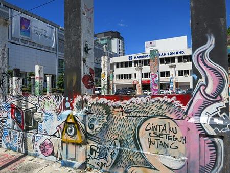 local street art of Sabah