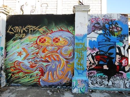 street art on the wall