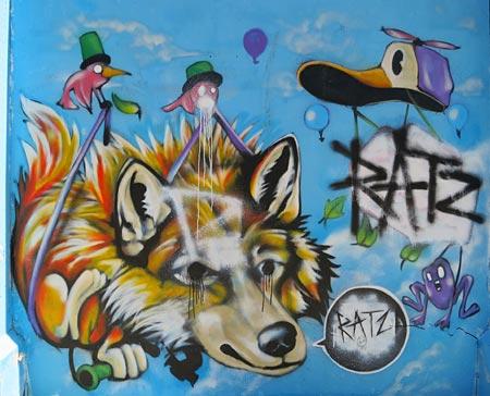 graffiti on street art