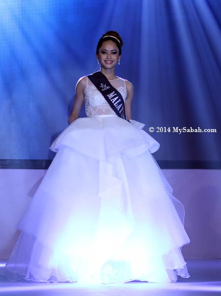 Miss Scuba Malaysia in evening gown