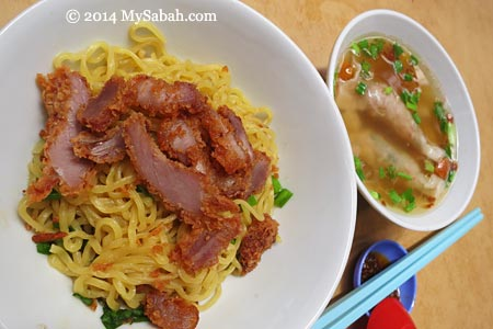 Sandakan Spring Noodle and Century Egg Dumpling