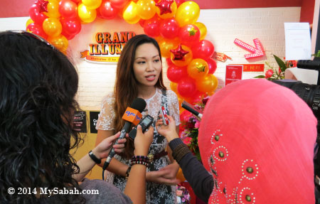 Lena interviewed by media and RTM
