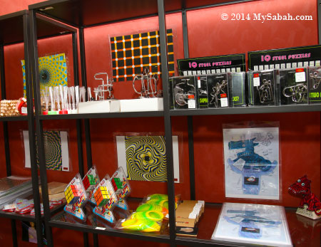 souvenirs and games for sale