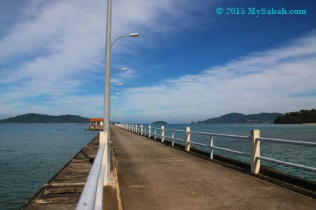 jetty of University Malaysia Sabah (UMS) in Sepanggar Bay