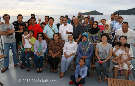 group photo of Sabah Wetlands Conservation Society (SWCS) members