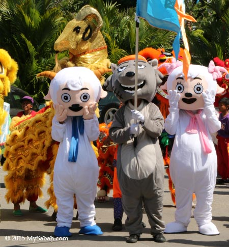 Sheep and Wolf cartoon costumes (喜羊羊與灰太狼)
