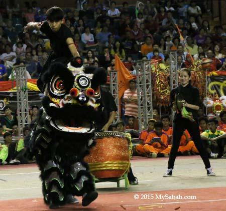 riding on lion