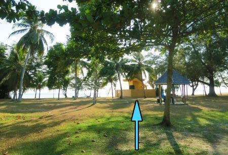 lifeguard house in Tanjung Aru Beach