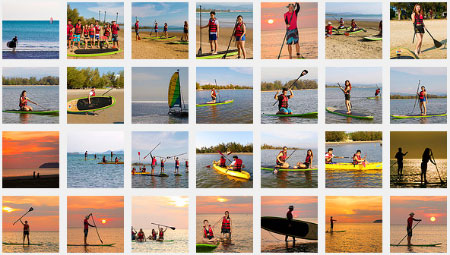 Photo album of Sunset stand-up paddle-boarding at Tanjung Aru Beach