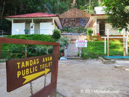 public toilet on the island