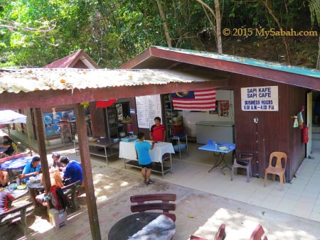 Sapi Cafe on the island
