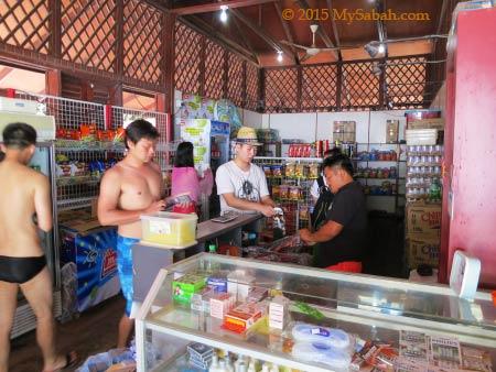 grocery store on Sapi Island