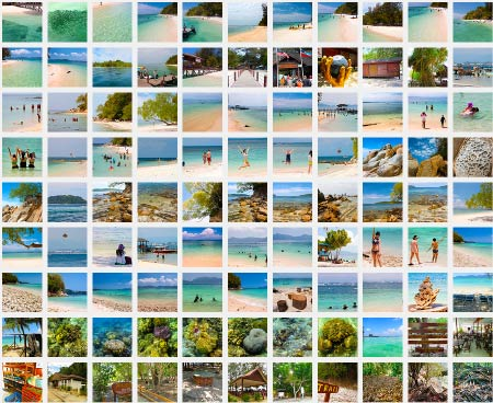 photo album of Mamutik Island