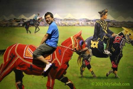 Bajau horsemen painting in 3D Wonders Museum