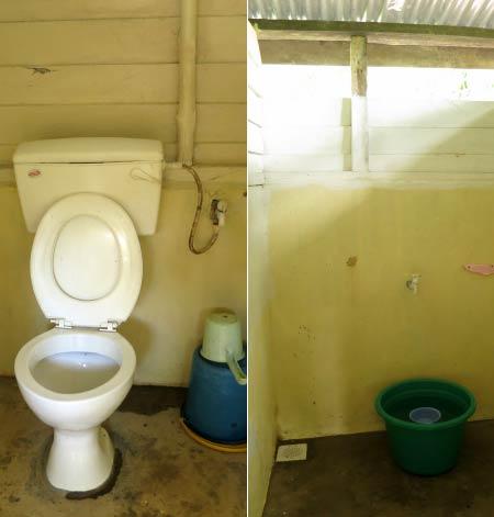 toilet and bathroom of Tanjung Bulat Jungle Camp