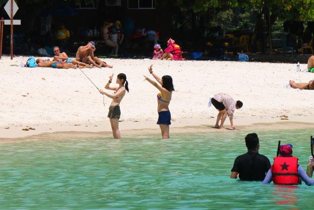 Sapi Island (Pulau Sapi) of Sabah, Malaysia