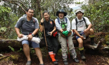 Climbing Mt. Trus Madi
