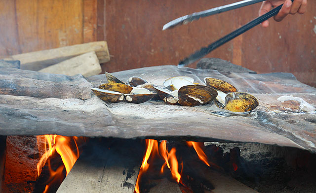 BBQ Clams & Grilled Coconut