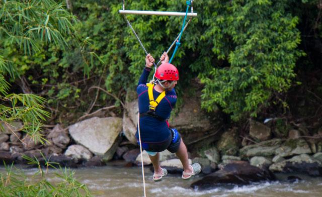 Zip Borneo, the longest zipline in Borneo