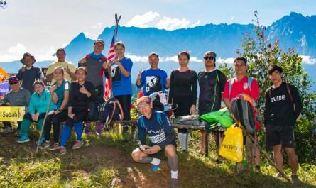 Group photo on the peak of Mount Nopungguk