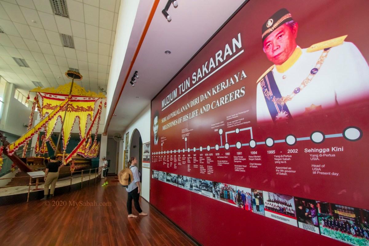 Timeline of political life of Tun Sakaran and Lepa-Lepa boat (left)