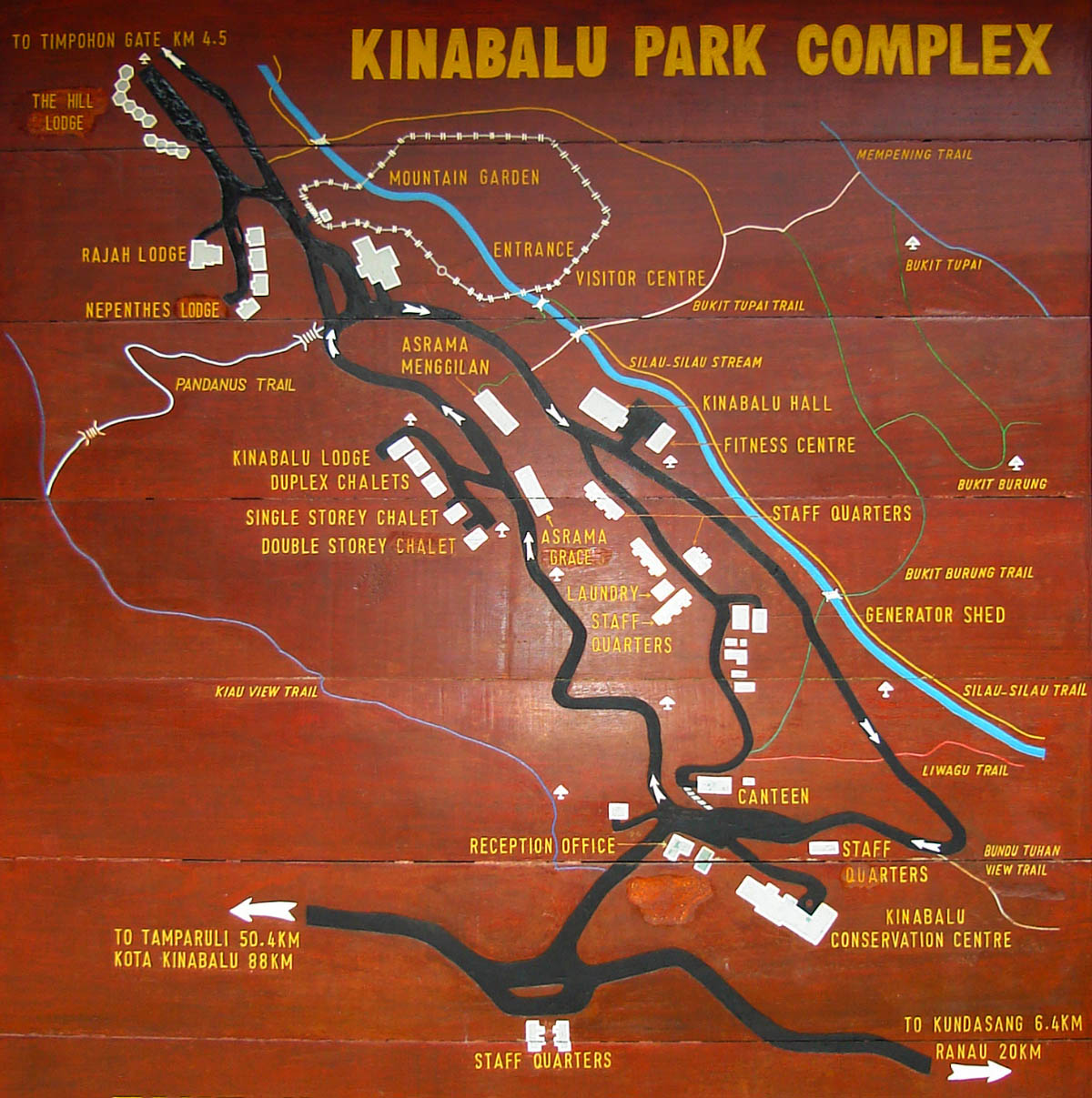 Layout map of Kinabalu Park Complex