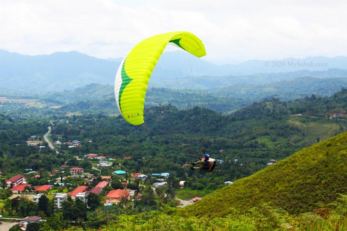 Paragliding in Lohan near Ranau town