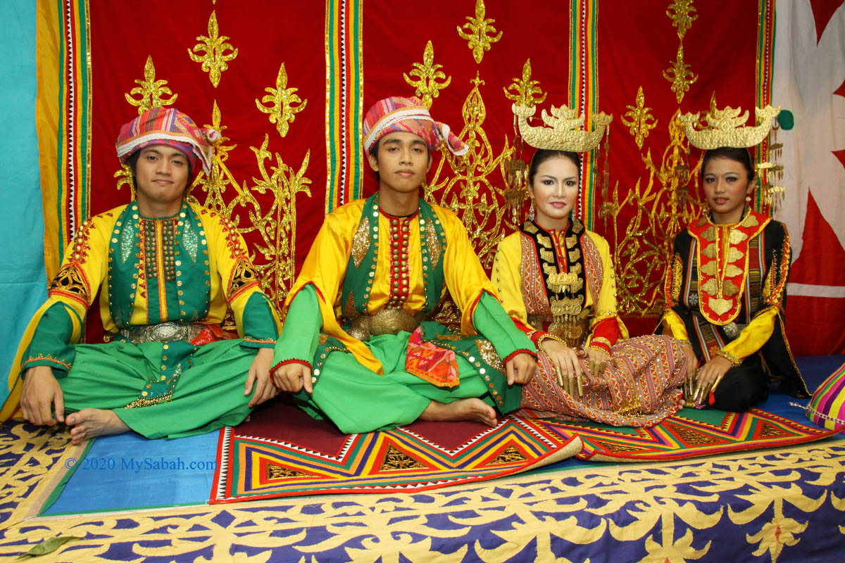 Mock wedding of Bajau people