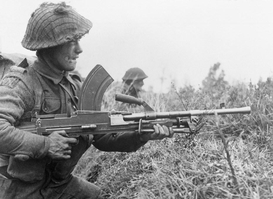 Bren gun, the light machine guns used by Starcevich