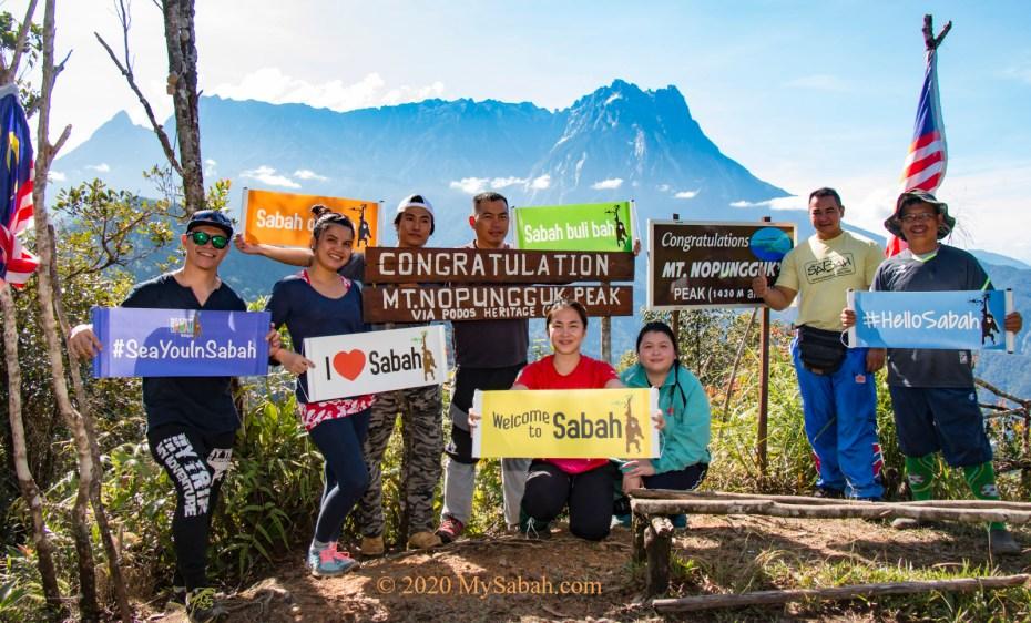 Peak of Mount Nopungguk (1,430 Metres / 4,692 ft) in Kota Belud