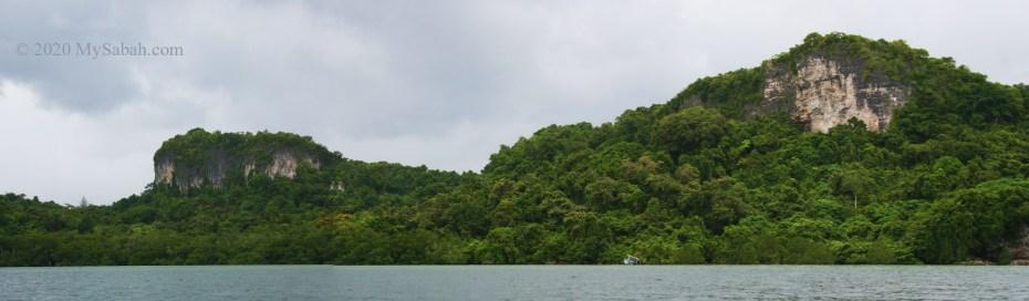 Limestone hills on Balambangan Island