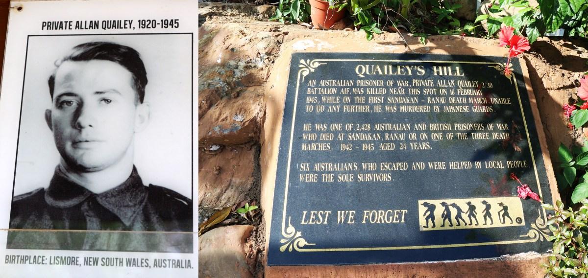 Quailey's Hill Memorial for Allan Quailey Clarence