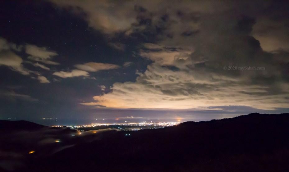City light of Kota Kinabalu City