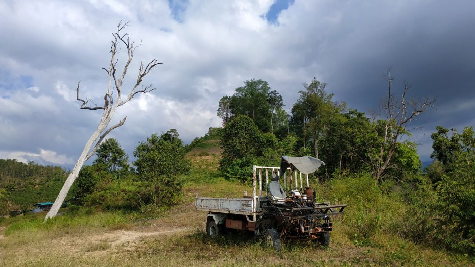 The dead tree and lorry at Sugud Stargazing Site