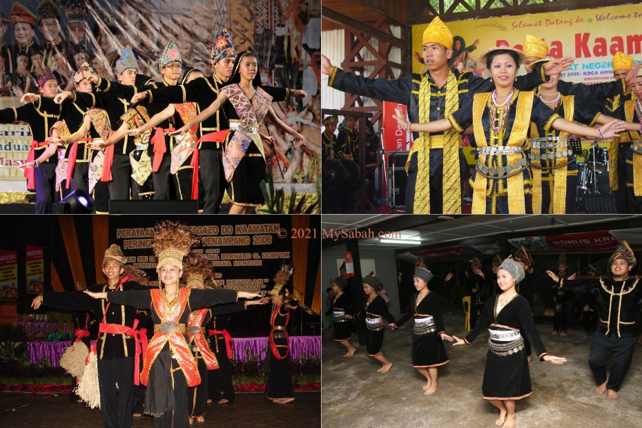 Different styles of Sumazau in Sabah