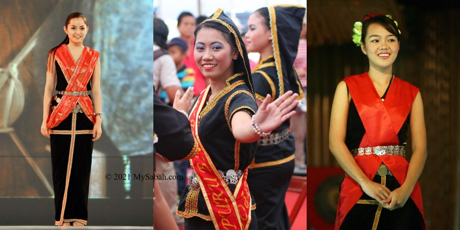 Kadazan girls ready to dance Sumazau