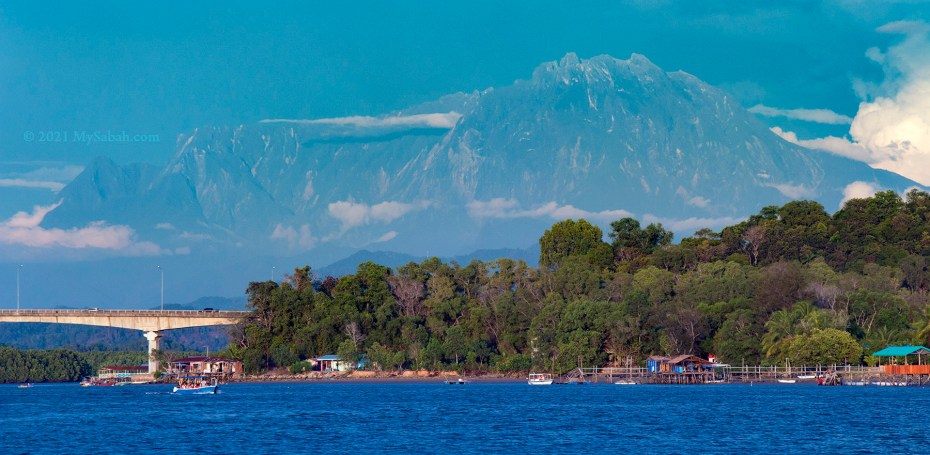 View of Mount Kinabalu from Dalit Beach