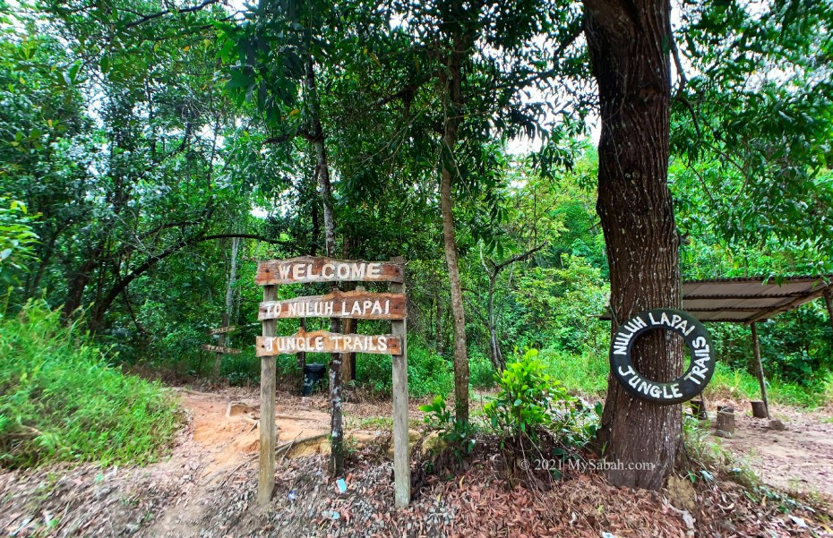 Starting point of the hiking trail to Nuluh Lapai